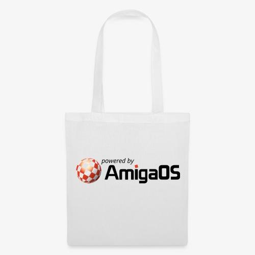 PoweredByAmigaOS Black - Tote Bag