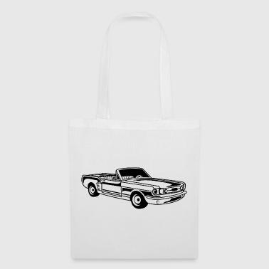 Cabrio / Muscle Car 02_schwarz - Borsa di stoffa