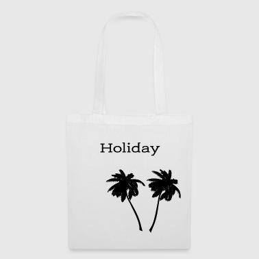 Holiday - modernes Shirt mit Aufdruck Palmen - Stoffbeutel