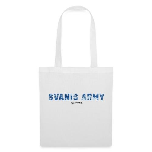 SVANIS ARMY (ALEXSVANIS SVART TEXT) - Tygväska
