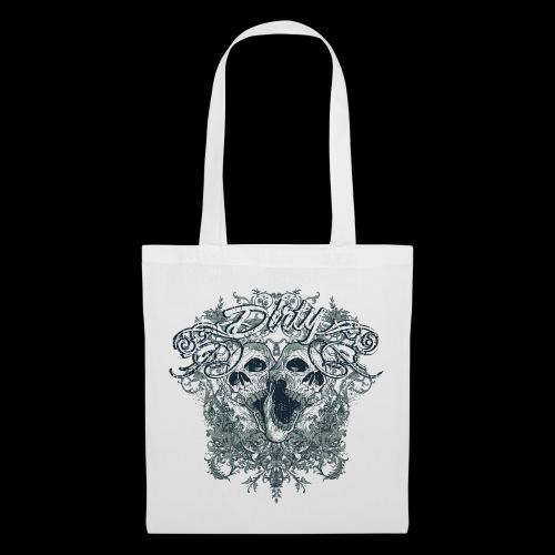 Dirty Totenkopf Gothic T-Shirt - Stoffbeutel