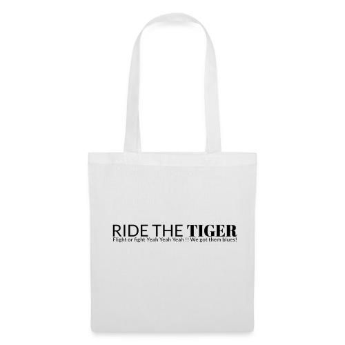Ride the tiger logo black - Tote Bag