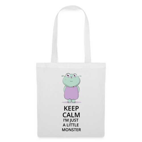 Keep Calm - Little Monster - Petit Monstre - Tote Bag