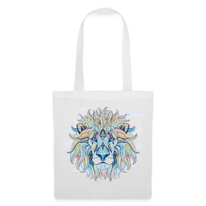 stock vector patterned head of the lion on the gru - Bolsa de tela