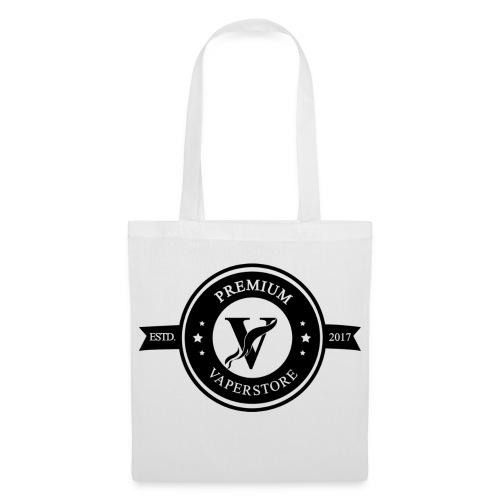 Premium Vaperstore Logo Schwarz - Stoffbeutel