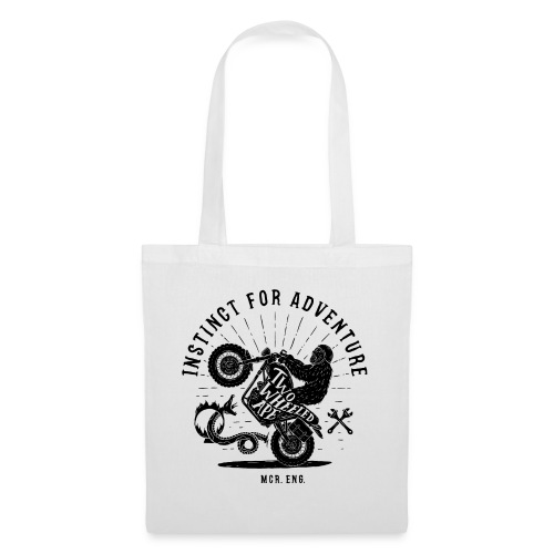 Two Wheeled Ape Wheelie Biker T shirt - Tote Bag