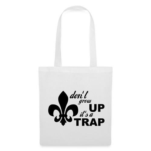 Don't grow up… Typo mit Lilie - Farbe frei wählbar - Stoffbeutel