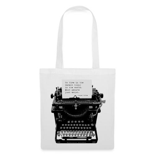 Oscar Wilde Quote on Old Remington 10 Typewriter - Tote Bag
