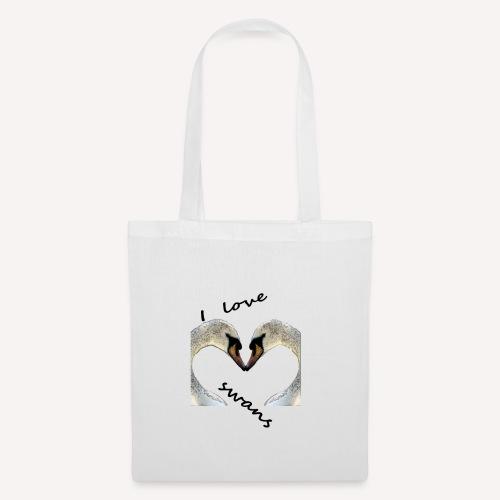 I love swans - Stoffbeutel