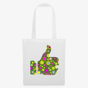 Retro Floral Pouce en l'Air - Tote Bag