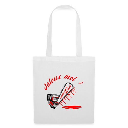 t shirt jaloux moi amour possessif humour - Tote Bag