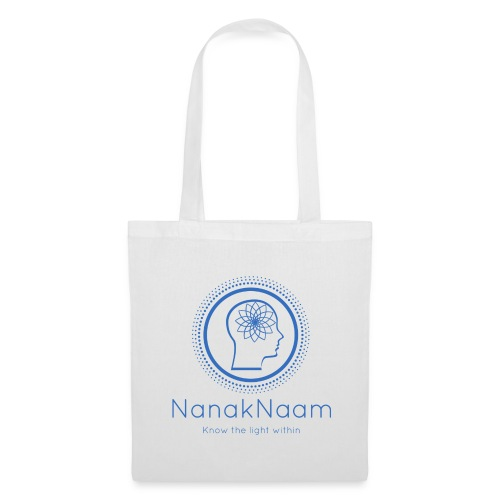 Nanak Naam Logo and Name - Blue - Tote Bag