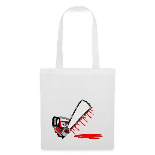 T shirt humeur tronçonneuse en sang votre texte FC - Tote Bag