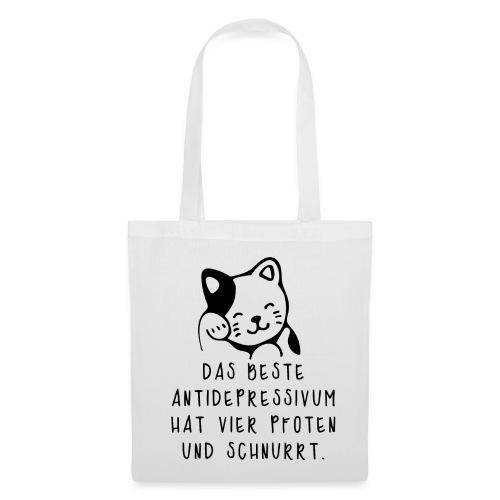 Katzen sind das beste Antidepressivum - Stoffbeutel