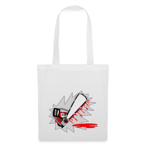 T shirt humeur tronçonneuse en sang votre texte FS - Tote Bag