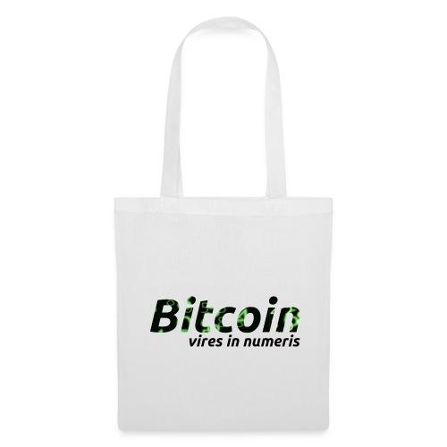 Bitcoin Matrix: Vires in numeris(Bitcoin Geschenk) - Stoffbeutel