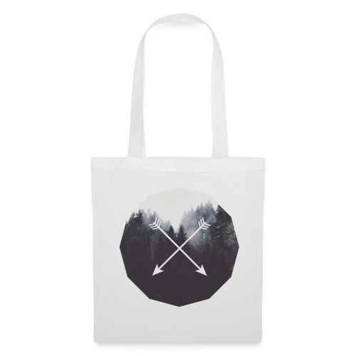 Misty Forest Blended With Crossed Arrows - Borsa di stoffa
