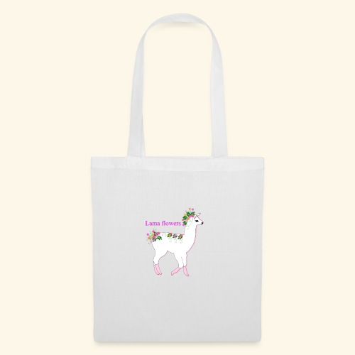 Lama Flowers - Tote Bag