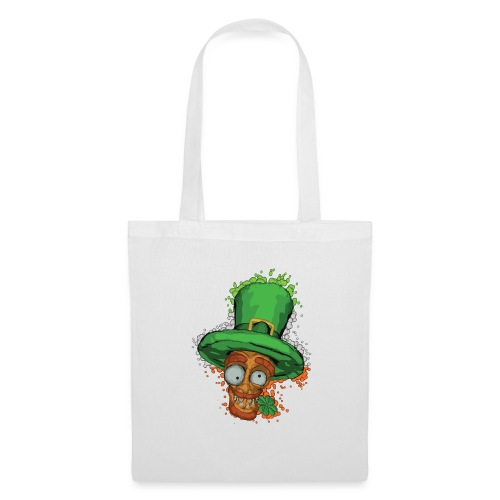 Leprechaun with shamrock - Tote Bag