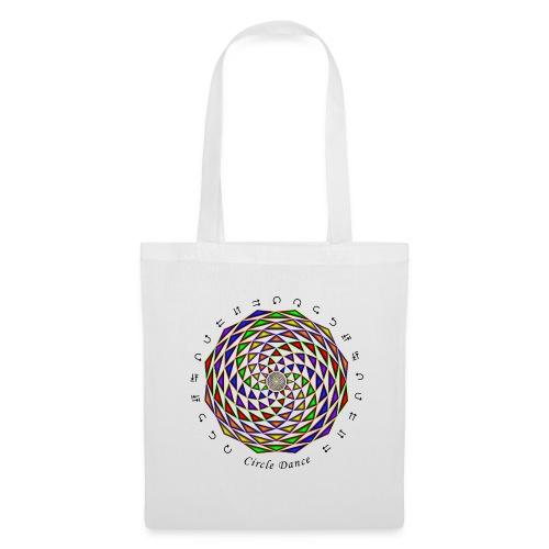 Mandala with Circle Dance words and glyphs - Tote Bag