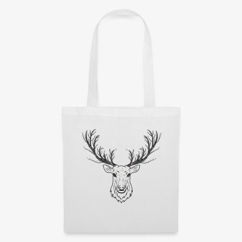 Stag with Tree Antlers - Tote Bag