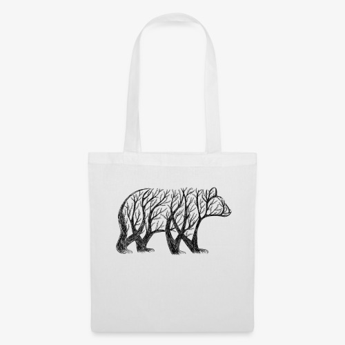 bear made from trees! - Tote Bag