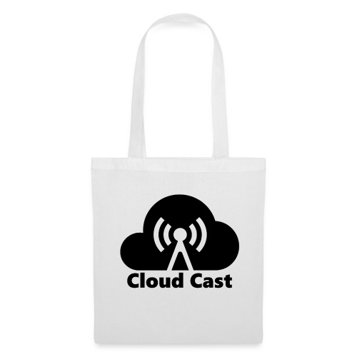 Cloud Cast Black mit Schriftzuga - Stoffbeutel