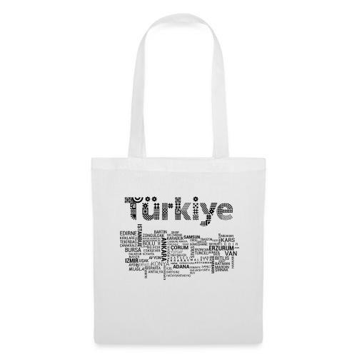 TürkiyeHaritasi Siyah - Stoffbeutel