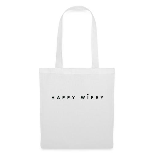 Happy Wifey - perfekter Spruch für Bräute - Stoffbeutel