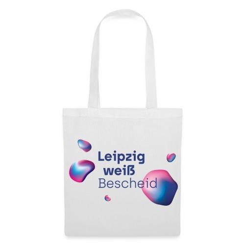 Leipzig weiß Bescheid Blau - Stoffbeutel
