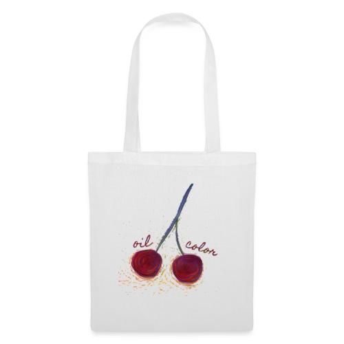 oilcolor - 'distorted cherry' - Tote Bag
