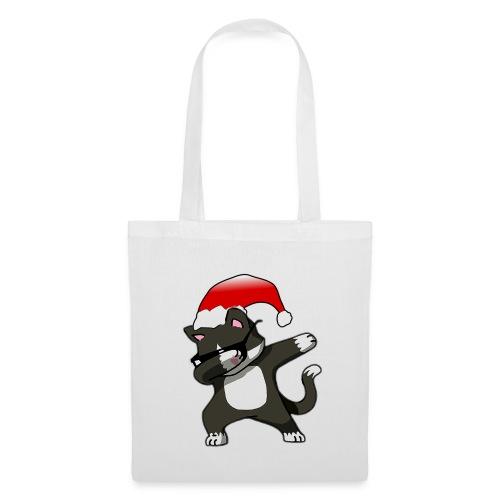 Lustige Katze Kater Dab Dabbing Weihnachten Logo - Stoffbeutel