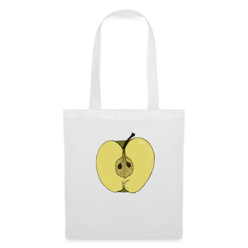 Halber Apfel - Stoffbeutel