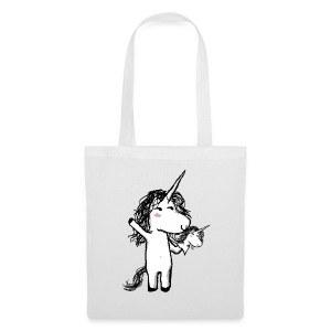 Unicorn with his happy friend - Tote Bag