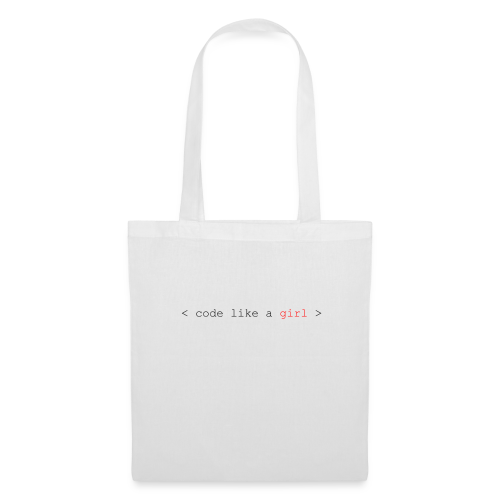 code like a girl - Tote Bag
