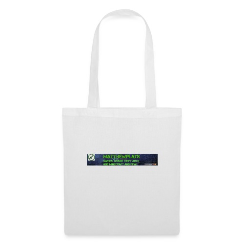 White YouTube Banner Tee - Tote Bag