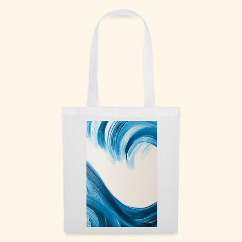 Große Welle hochformat - Stoffbeutel