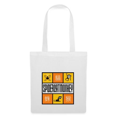Band-Logo SPIDERCATMONKEY, orange - Stoffbeutel