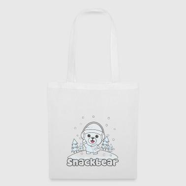 Snack bear / snack bear in the snow - Tote Bag