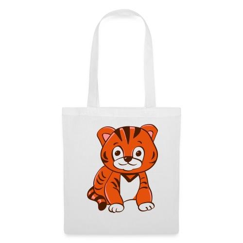 Bébé tigre orange et noir - Tote Bag