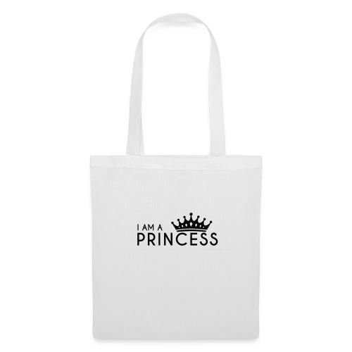 I AM A PRINCESS + KRONE - Stoffbeutel