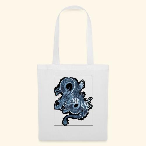 dragon bleu - Bolsa de tela