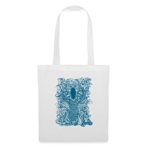 Snake-and-Water-in-Blue - Bolsa de tela