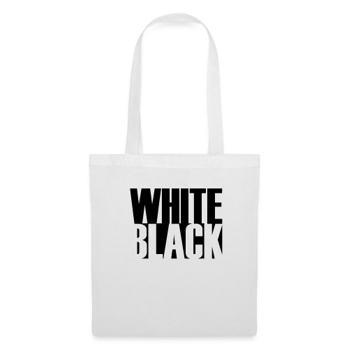 White, Black T-shirt - Tas van stof