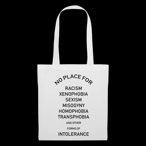 x.o. no place for intolerance - Stoffbeutel
