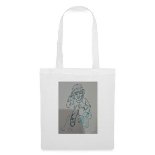 Camiseta con retrato - Bolsa de tela