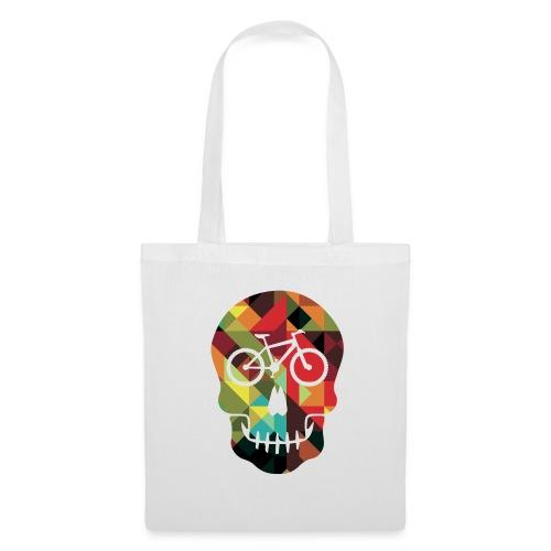 Colored Skull of Biker - Borsa di stoffa