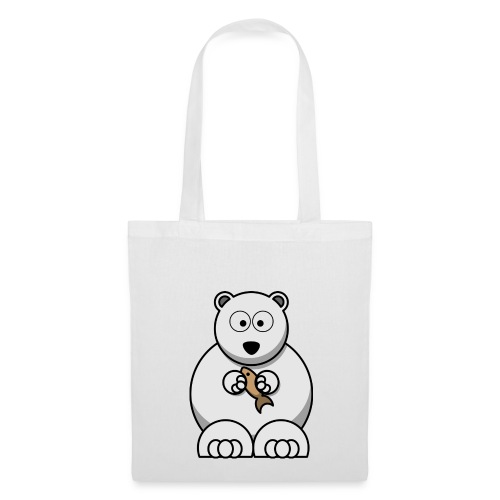 ours blanc - Tote Bag