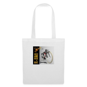 001 Smile more ride a bike - Bolsa de tela