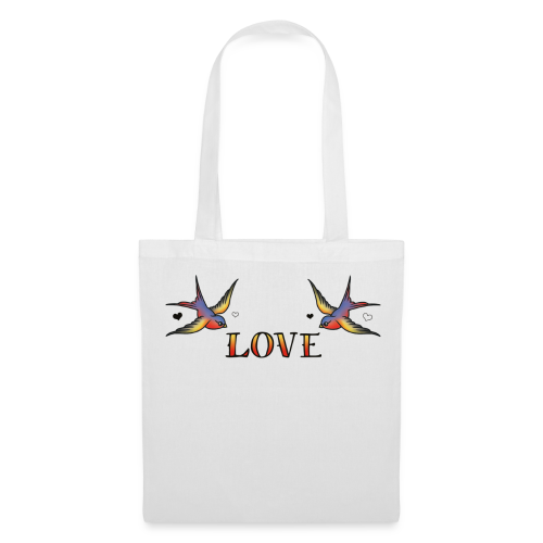 A Pair Of Swallows In Love - Tote Bag